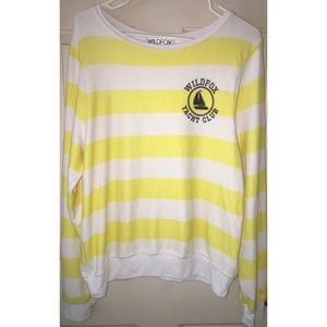 Wildfox yaught club striped Crewneck Sweatshirt